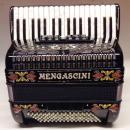 34 klavišų ir 96 bosų akordeonas