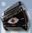 Prancūziškas mygtukinis 56 natų (92 mygtukų) ir 120 bosų akordeonas