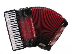 Piano accordion of 41 key and 120 bass with tone chamber (cassotto)