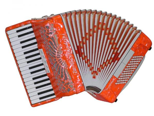 Piano accordion of 34 key and 72 bass